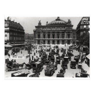 Traffic in front of the Paris Opera House Postcard