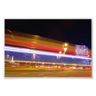 "Traffic in Philadelphia at Night 6"" x 4"" Photo"