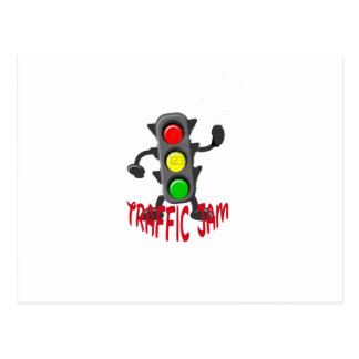 Traffic Jam Cute and Funny Design Postcard