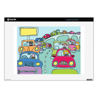 """Traffic Jam People Decal For 15"""" Laptop"""