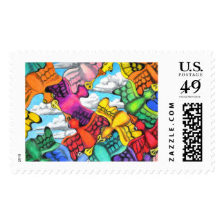Traffic Jam Postage Stamp