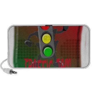 Traffic jam laptop speaker