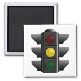 Traffic Light 2 Inch Square Magnet