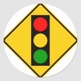 Traffic Light Ahead Highway Sign Stickers