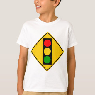 Traffic Light Ahead Highway Sign T-Shirt