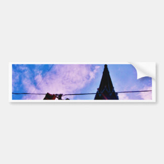 Traffic Light and Steeple Bumper Sticker