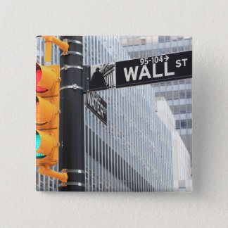 Traffic Light and Wall Street Sign Button
