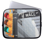 Traffic Light and Wall Street Sign Computer Sleeve