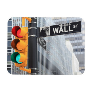 Traffic Light and Wall Street Sign Magnet