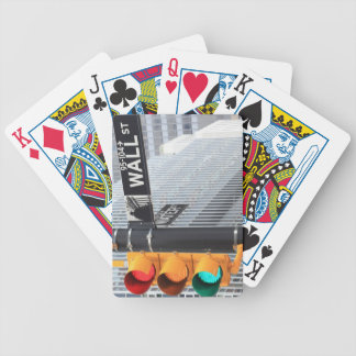 Traffic Light and Wall Street Sign Poker Cards
