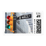 Traffic Light and Wall Street Sign Postage Stamp