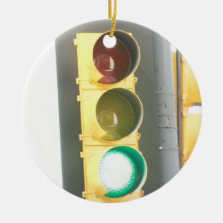 Traffic Light Ceramic Ornament