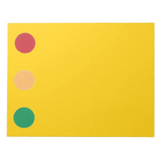 Traffic light colors circles Note Pads