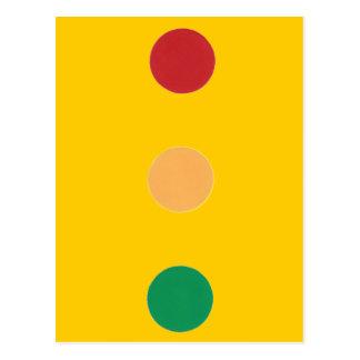 Traffic light colors circles Postcards