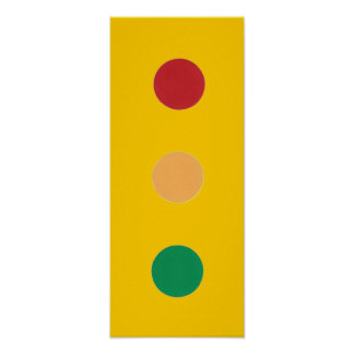 Traffic light colors circles Posters