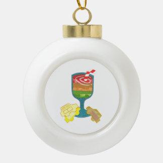Traffic Light Milkshake Ceramic Ball Ornament