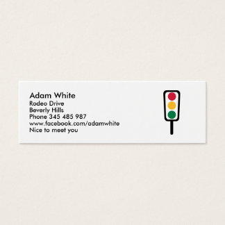 Traffic light mini business card