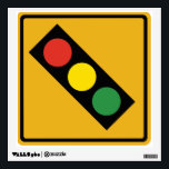 """Traffic Light Sign Wall Graphic<br><div class=""""desc"""">Classic traffic light sign.</div>"""