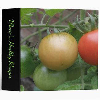 Traffic Light Tomatoes Custom Recipe Binder