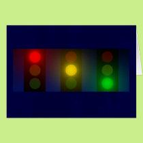 Traffic Lights Christmas card