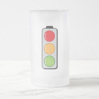 traffic lights frosted glass beer mug