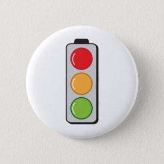 traffic lights pinback button