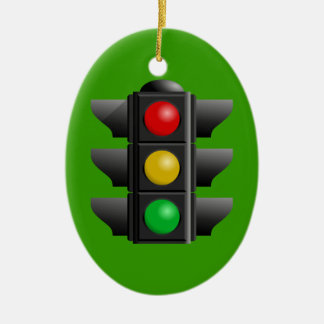 TRAFFIC LIGHTS RED YELLOW GREEN SIGNS DIRECTION CERAMIC ORNAMENT