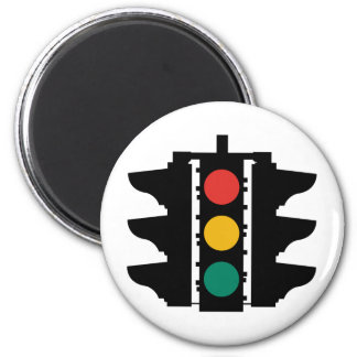 Traffic Lights Street Sign Fridge Magnet