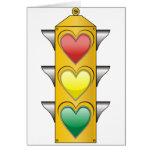 Traffic Love Light Greeting Card