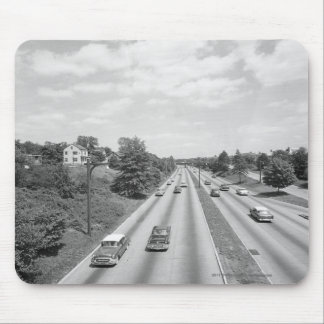 Traffic on highway mouse pad