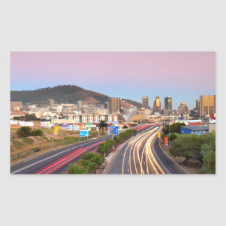 Traffic On Motorway To Cape Town, Western Cape Rectangular Sticker