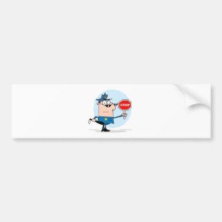 Traffic Police Officer Bumper Sticker