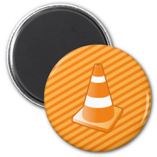 Traffic Safety Cone 2 Inch Round Magnet