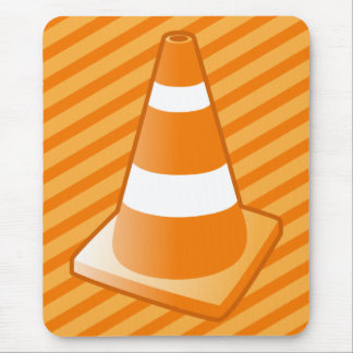 Traffic Safety Cone Mouse Pad