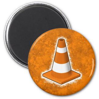 Traffic Safety Cone Splatter 2 Inch Round Magnet