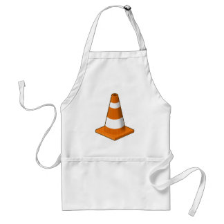 Traffic Safety Cone Splatter Adult Apron