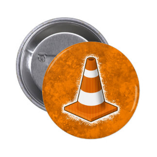 Traffic Safety Cone Splatter Buttons