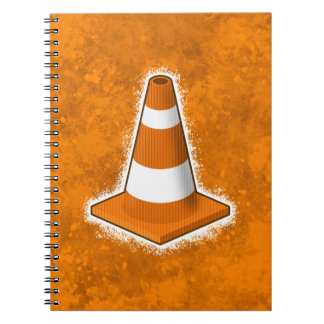 Traffic Safety Cone Splatter Notebook