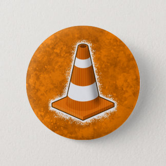 Traffic Safety Cone Splatter Pinback Button