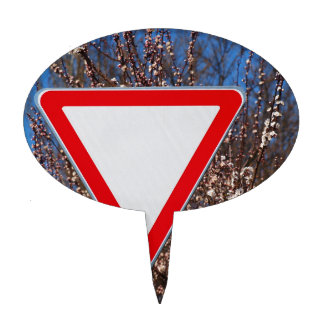 Traffic sign cake toppers