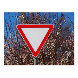 Traffic sign postcard
