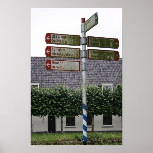 Road sign, Nieuwegein, Utrecht