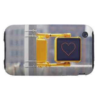 Traffic sign with heart shape tough iPhone 3 cases