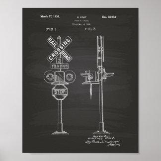 Traffic Signal 1936 Patent Art Chalkboard Poster