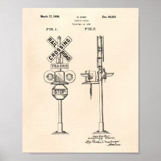 Traffic Signal 1936 Patent Art Old Peper Poster