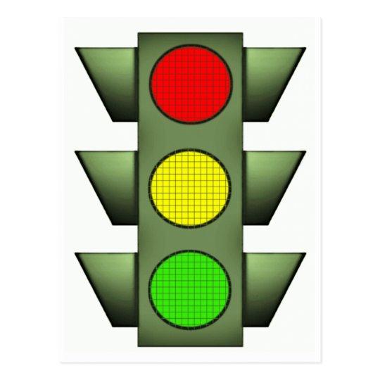 Traffic Signal Postcard