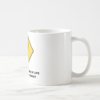 Traffic Signals Of Life Are Hard To Interpret Classic White Coffee Mug