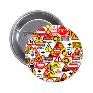 Traffic signs button