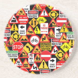 Traffic signs coaster
