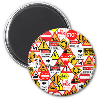 Traffic signs magnet